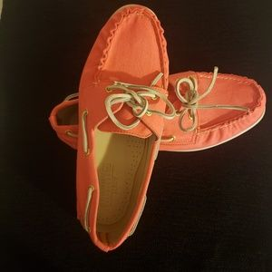 Sperry Top Siders J. Crew Pink Cotton Canvas